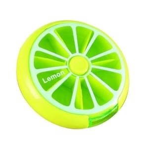 Mini pil vak grote capaciteit dragen drug vak roterende verpakking fruit pil vak (groen)