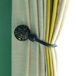 2 stks retro stijl holle U gevormde gordijn metalen muur haken (2072Zwart)