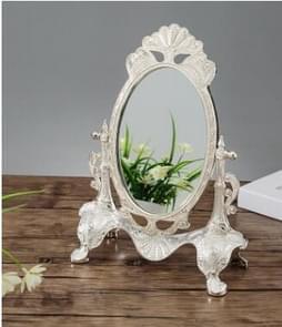 Metal Vintage Vanity Mirror Wedding Home Decorative Mirrors(Silver gemstone)