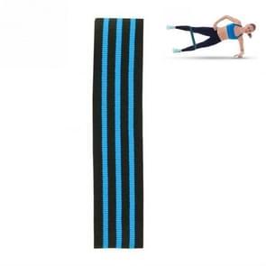 Driekleurige Stripe Yoga Belt Looped Latex Zijde Non-slip Tension Band  Size:M(Blauw)