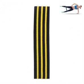 Driekleurige Stripe Yoga Belt Looped Latex Silk Non-slip Tension Band  Maat:L (Geel)