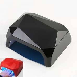 36W LED Nail Phototherapy Lamp Diamond Nail Quick Drying Grill  Plug Type:EU Plug(Black)