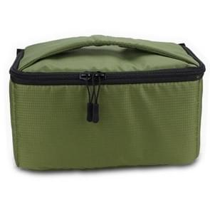 EDAL Water-resistant DSLR Padded insert Case Waterproof Zipper Removable Partition Camera Bags(Army Green)