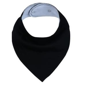 3 PCS Reusable Washable Cotton Baby Bibs Burp Cloth Adjustable Baby Meal Bibs(Black)
