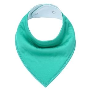 3 PCS Reusable Washable Cotton Baby Bibs Burp Cloth Adjustable Baby Meal Bibs(Jade Green)