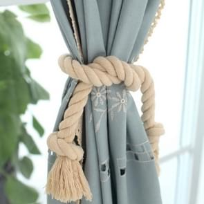 2 PCS Thick Cotton Thread Curtain Straps Handmade Cotton Rope Environmental Protection Straps