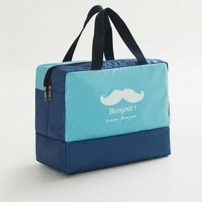 Mode mannen en vrouwen reizen waterdichte opbergtas Oxford doek reistas tas zwemmen tas strandtas (blauwe baard)