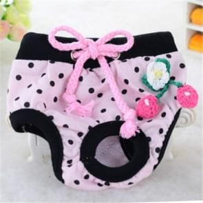 Cute Cotton Light and Breathable Pet Physiological Underwear, Size:S(Black)