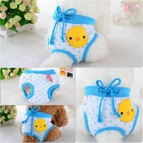 Cute Cotton Light and Breathable Pet Physiological Underwear, Size:M(Blue)