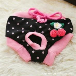 Cute Cotton Light and Breathable Pet Physiological Underwear, Size:L(Pink)