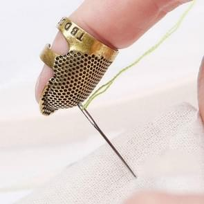 Household Adjustable Metal Sewing Thimble Finger Protectors Sewing Tools Accessories(S)