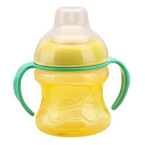 Feeding Bottles Cups for Babies Kids Water Milk Bottle Soft Mouth Baby Feeding Bottle Infant Training With Handle(Yellow)