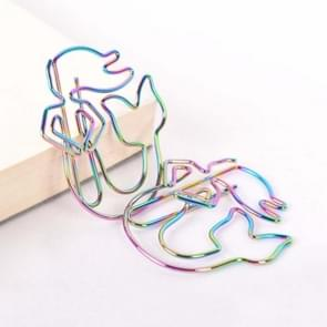 4 PCS Creative Paper Clip Colorful Mermaid Styling  Paper Clip