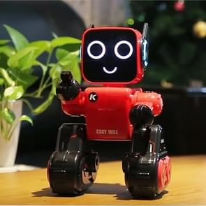 JJR/C R4 Cady Wile 2.4GHz Intelligent Remote Control Robo-advisor Money Management Robots Toy with Colorful LED Light, Remote Control Distance: 15m, Age Range: 8 Years Old Above (Red)