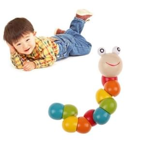 Houten insecten Toy DIY educatieve speelgoed gekleurde insecten Baby jongen onderwijs speelgoed