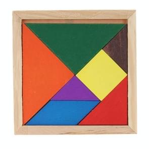 Houten driedimensionale puzzel bord DIY Kids Baby educatief houten speelgoed  willekeurige kleur levering