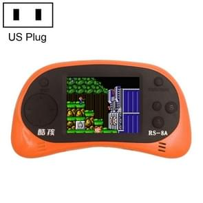CoolBaby RS-8A 260 in 1 Classic Games Retro Mini Handheld Game Console with 2.5 inch Color Screen, Support AV Output, US Plug(Orange)