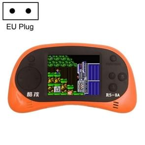 CoolBaby RS-8A 260 in 1 Classic Games Retro Mini Handheld Game Console with 2.5 inch Color Screen, Support AV Output, EU Plug(Orange)