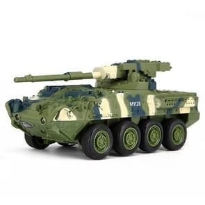 Creatieve 8021 artillerie-voertuig afstand bestuurde Tank militaire Model speelgoedauto (groen)