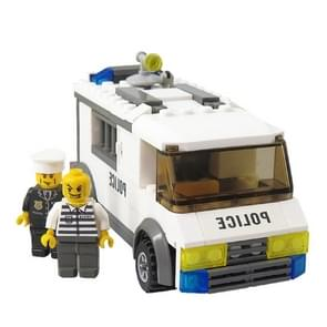 6730 135 PCS Brick Blocks City Police Series Custody Van Prisoners Car Enlighten Building Blocks Toys, Age Range: 6 Years Old Above