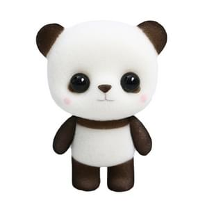 Little Cute PVC Flocking Animal Panda Dolls Birthday Gift Kids Toy, Size: 4.5*3.5*6cm(Black White)