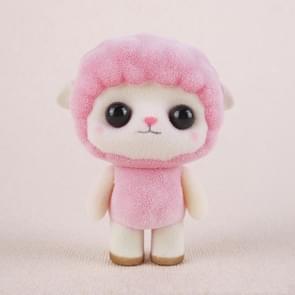 Little Cute PVC Flocking Animal Sheep Dolls Birthday Gift Kids Toy, Size: 5.5*3.5*7cm(Pink)