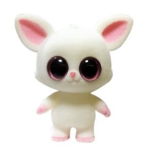 Little Cute PVC Flocking Animal Lemurs Dolls Birthday Gift Kids Toy, Size: 6.8*6*7cm(White)