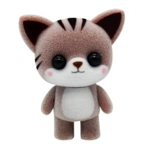 Little Cute PVC Flocking Animal Cat Dolls Creative Gift Kids Toy, Size: 5.5*3.5*6.5cm(Coffee)