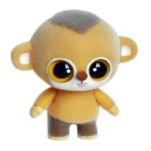Little Cute PVC Flocking Animal Monkey Dolls Creative Gift Kids Toy, Size: 6.3*4.5*7cm(Yellow)