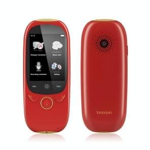 Boeleo K1 2 0 inch scherm stem vertaler Smart Business Travel AI Vertaalmachine 512MB +4GB 45 Talen Vertaler (Rood)