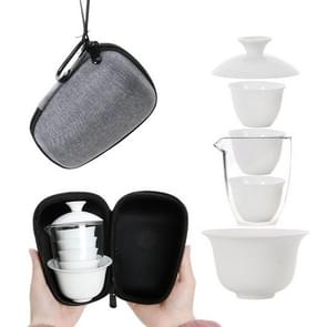 Travel Tea Cup Set Portable Receiving Tea Maker Kung Fu Teaware Gifts, Size: 10.8x9.8x13cm