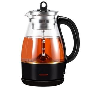 Fully Automatic Small Capacity Glass Electric Steam Teapot Black Tea Boiled Teapot (Black)