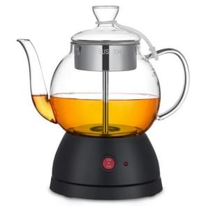 Household Glass Automatic Steam Electric Kettle Cooking Teapot (Full Glass Black)