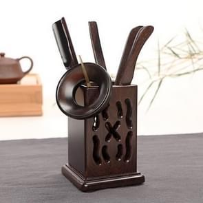 Home Decoration Ebony Wood Tea Set tea Tray Accessories Tea Clip (F75-1)