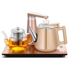 Automatic Stainless Steel Household Pumping Electric Kettle Tea Set (Gold Rubber)
