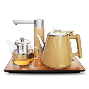 Automatic Stainless Steel Household Pumping Electric Kettle Tea Set (Gold Warm)