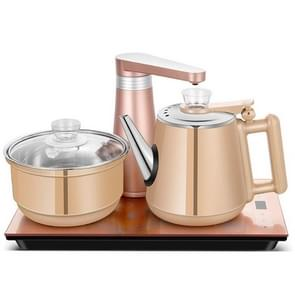 Fully Automatic Water Electric Kettle Home Cooking Water Bottle Pumping Electric Tea Stove Set (Gold Rubber)