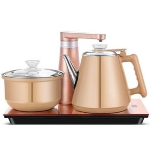Fully Automatic Water Electric Kettle Home Cooking Water Bottle Pumping Electric Tea Stove Set (Champagne Gold Rubber)