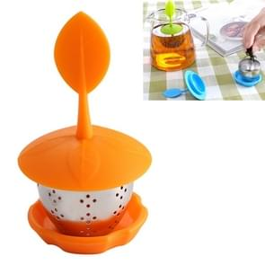 Stainless Steel Silicone Hanging Tea Bag Tea Strainers (Orange)