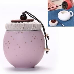 Ceramic Mini Tea Pot Storage Moisture-proof Can Sealed Tea Tank, Single Package (Pink)