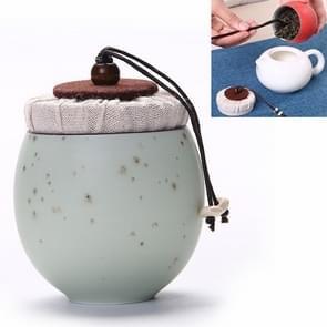 Ceramic Mini Tea Pot Storage Moisture-proof Can Sealed Tea Tank, Single Package (Green)