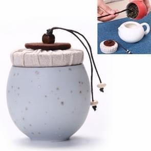 Ceramic Mini Tea Pot Storage Moisture-proof Can Sealed Tea Tank, Single Package (White)