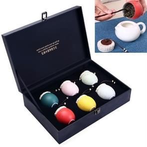 Ceramic Mini Tea Pot Storage Moisture-proof Colourful Tea Can Sealed Tea Tank Set