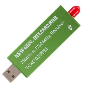 USB2.0 Adapter RTL-SDR RTL2832U + R820T2+ 1Ppm TCXO TV Tuner Stick Receiver (Green)
