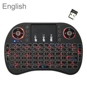 Ondersteuning taal: Engels i8 Air Mouse draadloze achtergrondverlichting toetsenbord met touchpad voor Android TV Box & Smart TV & PC Tablet & Xbox360 & PS3 & HTPC/IPTV