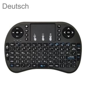 Ondersteuning taal: Duitse i8 Air Mouse draadloos toetsenbord met touchpad voor Android TV Box & Smart TV & PC Tablet & Xbox360 & PS3 & HTPC/IPTV