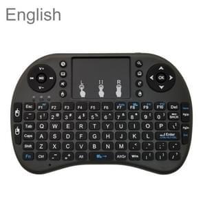 Ondersteuning taal: Engels i8 Air Mouse draadloos toetsenbord met touchpad voor Android TV Box & Smart TV & PC Tablet & Xbox360 & PS3 & HTPC/IPTV