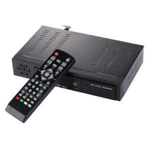 ATSC Digitale uitzending 1080P HD ontvanger Smart TV BOX met afstandsbediening voor Mexico / USA / Canada (zwart)