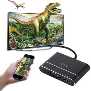 MiraScreen X6L 1080P HDMI for 8 Pin AV HDMI/HDTV TV Digital Display Cable Adapter Converter for iPhone 8/7/6/6S, iPad