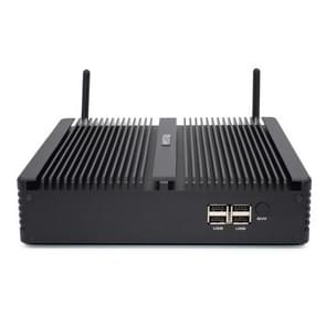 HYSTOU H5-I7-8550U Household Office Fanless Mini PC Intel Core i7-8550U Processor Quad Core up to 1.8GHz, RAM: 4G, ROM: 256G, Support Win 7 / 8 / 10 / Linux(Black)